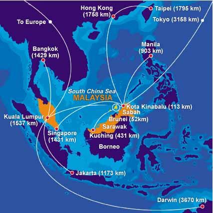 sabah-malaysia-airline-map